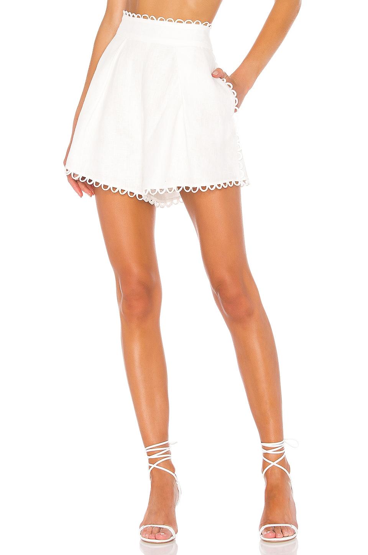 Zimmermann Allia High Waisted Short en Ivory