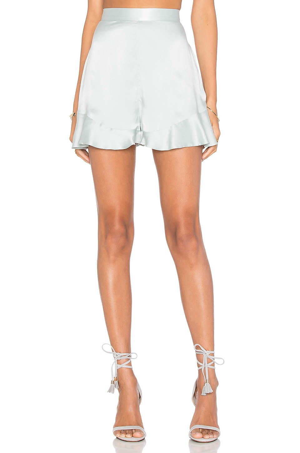 Zimmermann Sueded Silk Floating Short in Sage