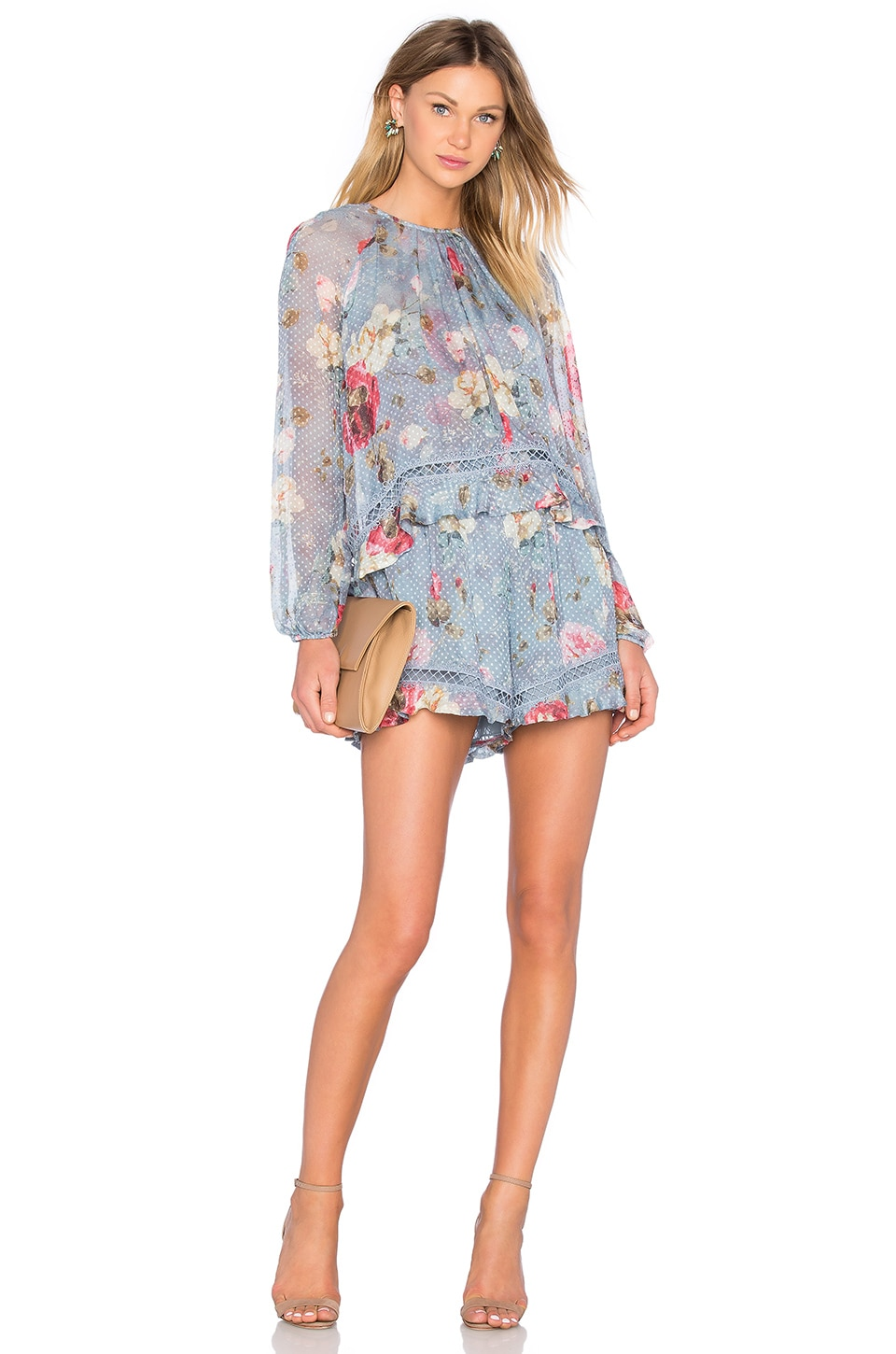 Zimmermann Havoc Floating Layer Playsuit in Floral