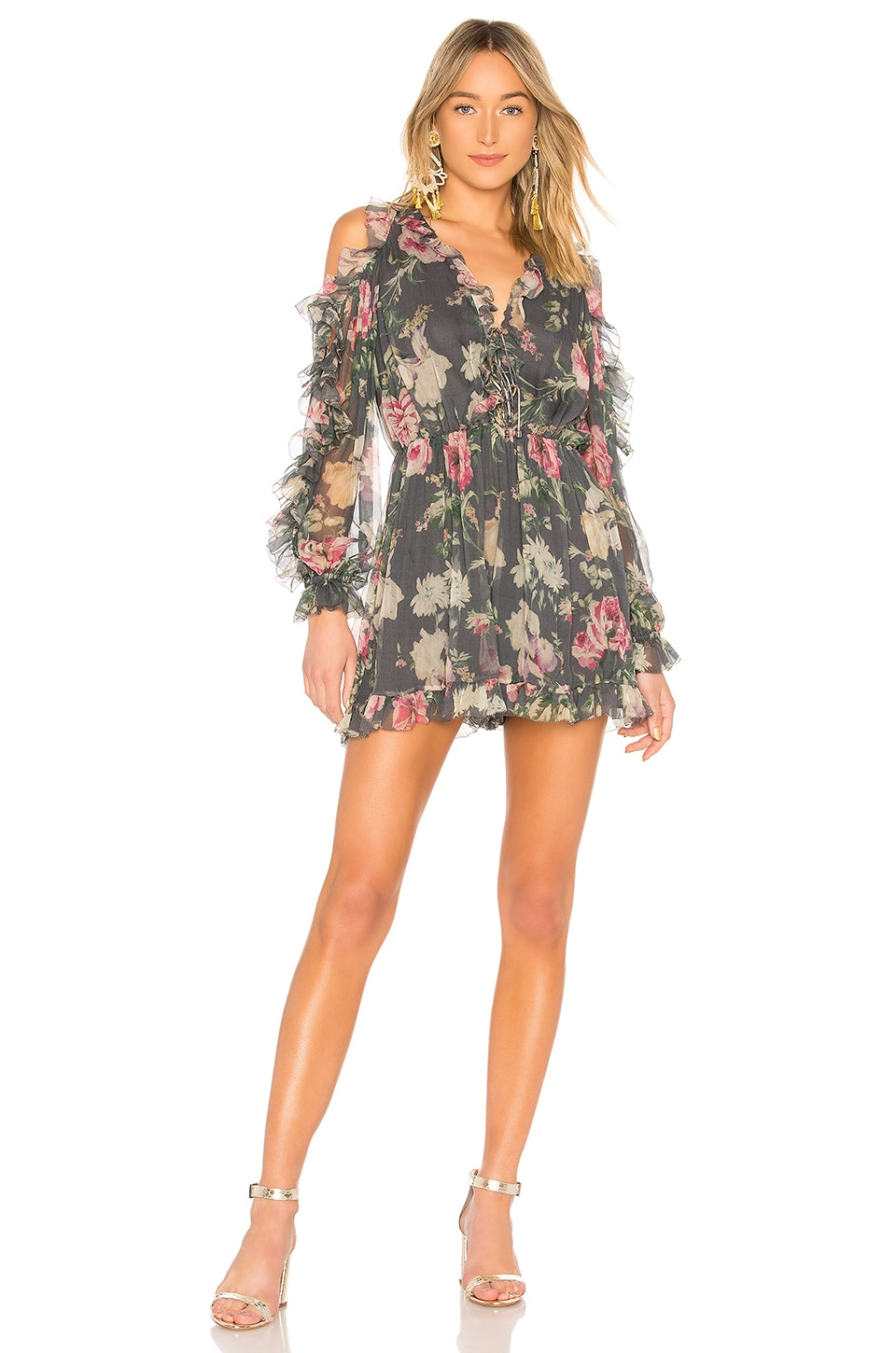 Iris Tie Sleeve Playsuit
