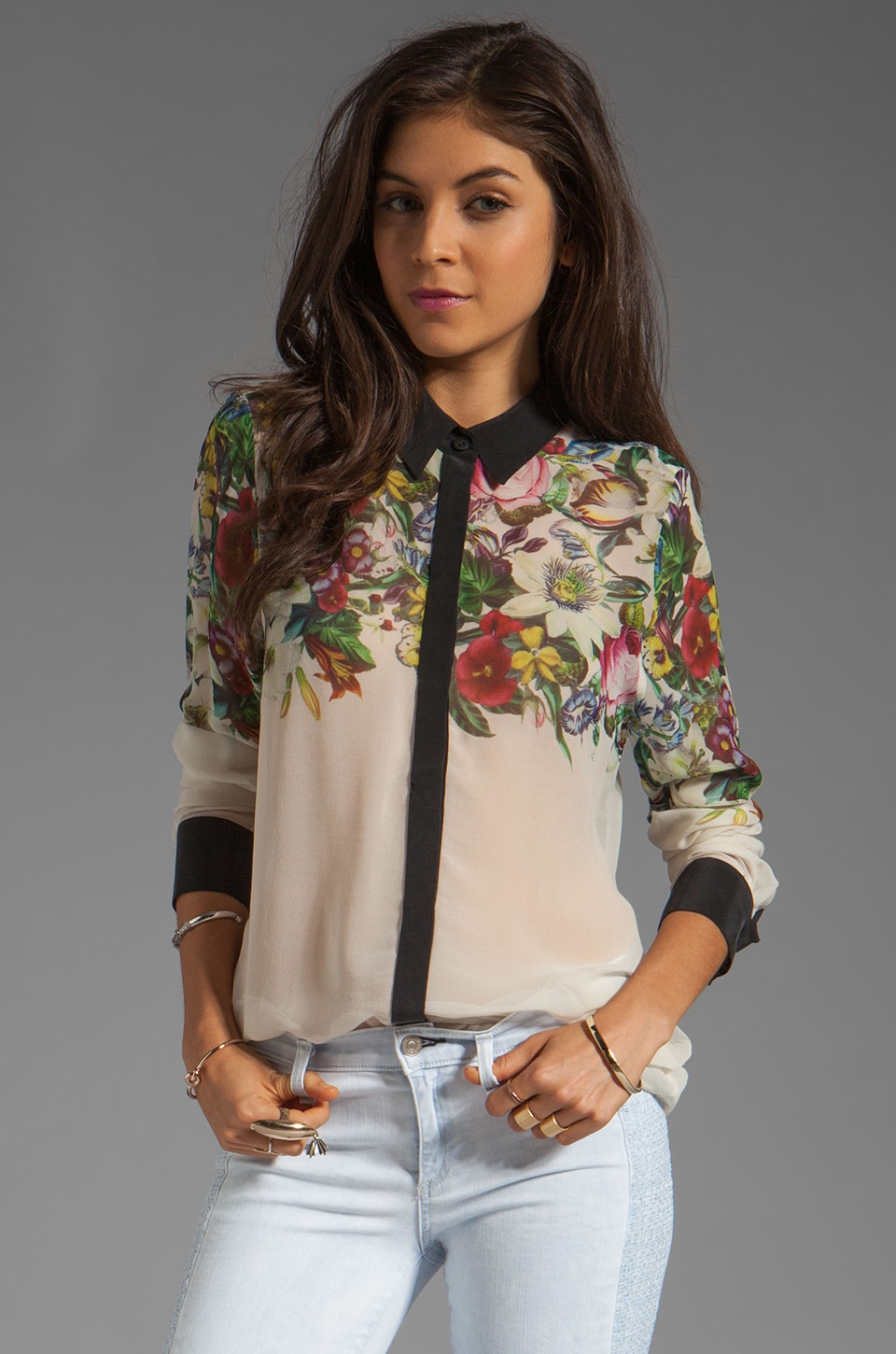 Zimmermann Rising Garland Shirt in Floral