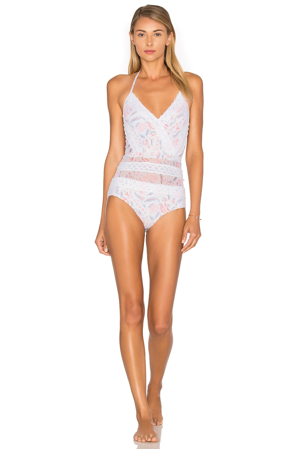 b2ed3da23 Zimmermann Zephyr Lace One Piece Swimsuit in Floral