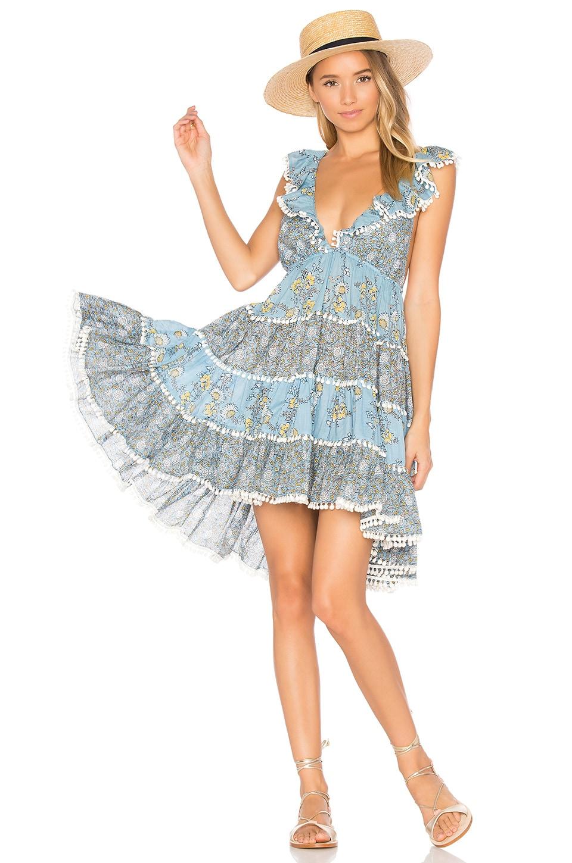Zimmermann Caravan Tiered Sun Dress in Splice