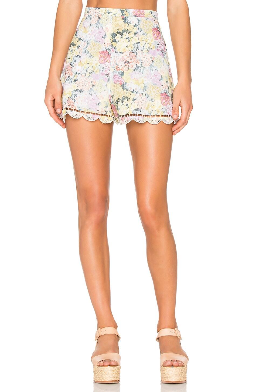 Zimmermann Valour Hydrangea Flare Shorts in Floral