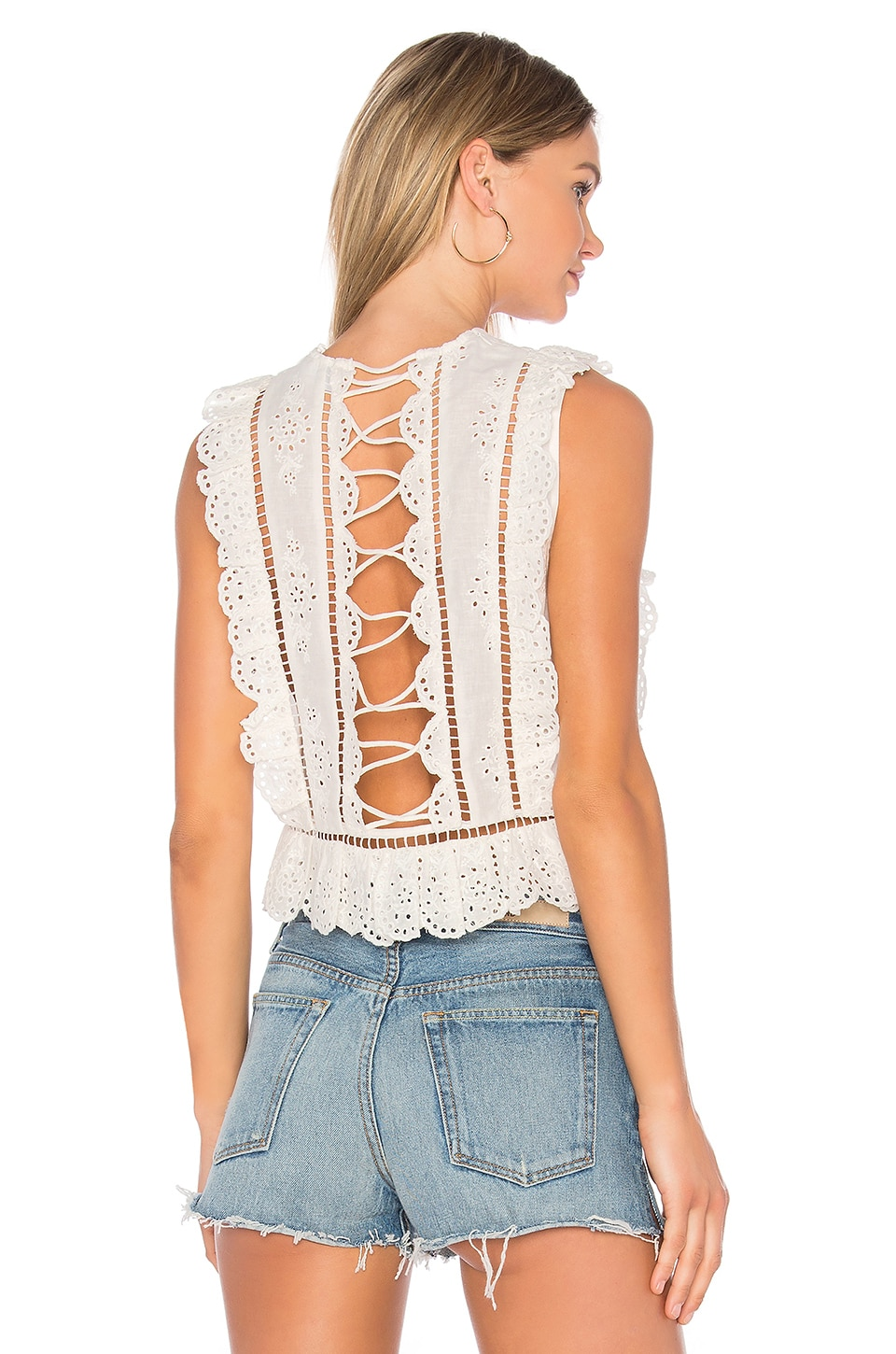 Zimmermann Valour Frill Tank in White