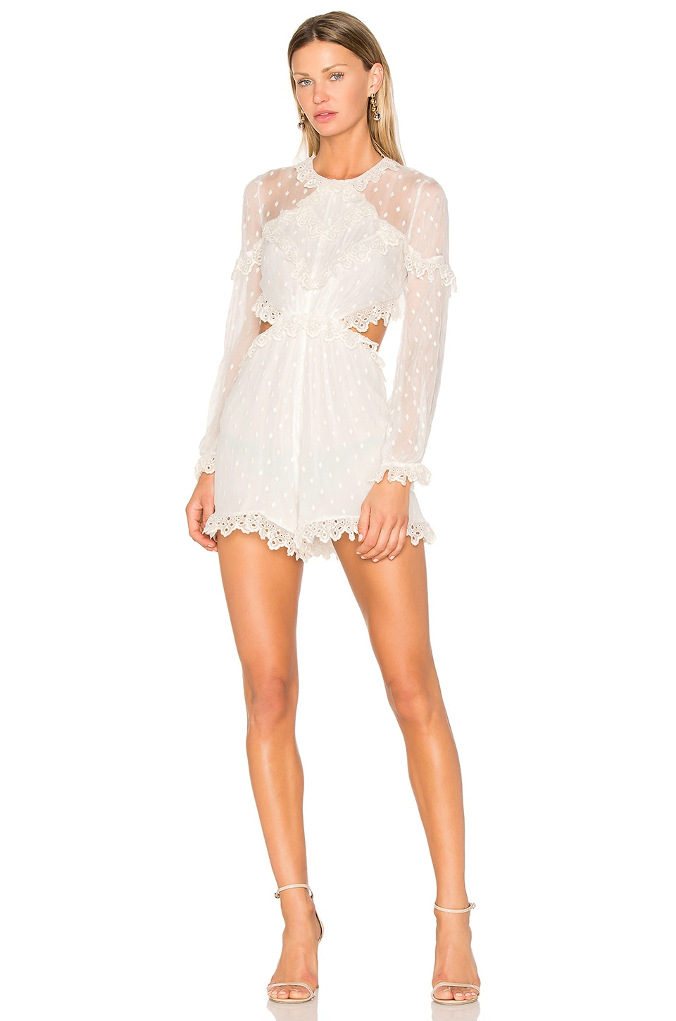 Divinity Scallop Romper by Zimmermann