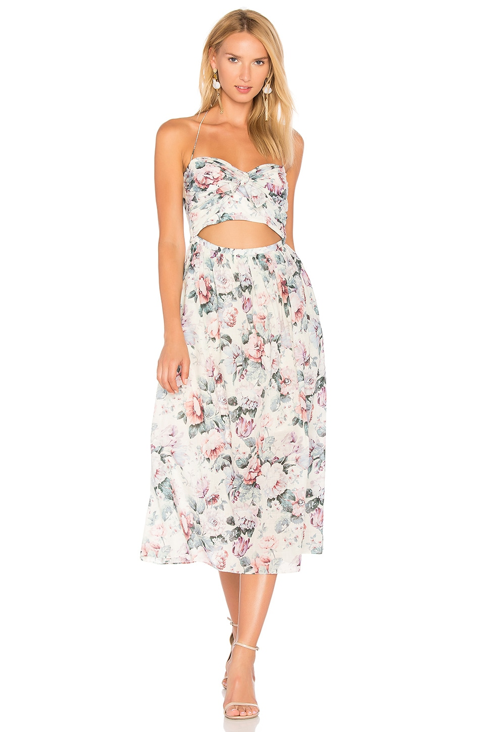 Zimmermann Jasper Tie Dress in Floral