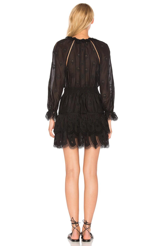 Zimmermann tulsi embroidered dress noir modesens