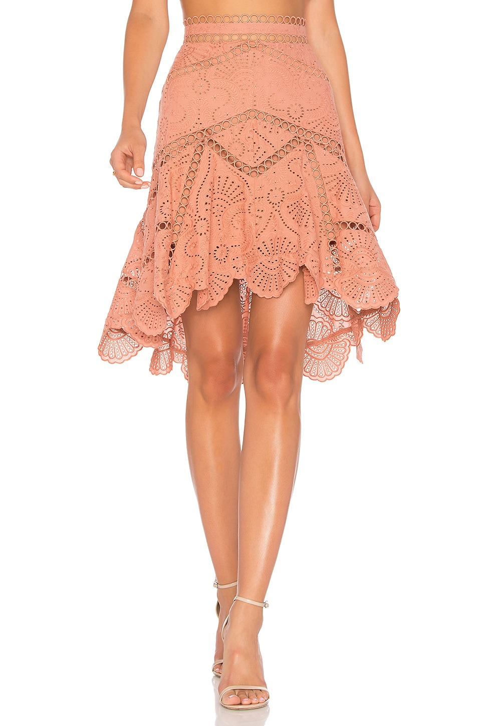 Zimmermann Jasper Fan Skirt in Nude