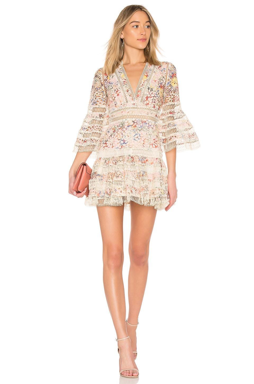 Zimmermann Lovelorn Fl Flutter Dress In Pink