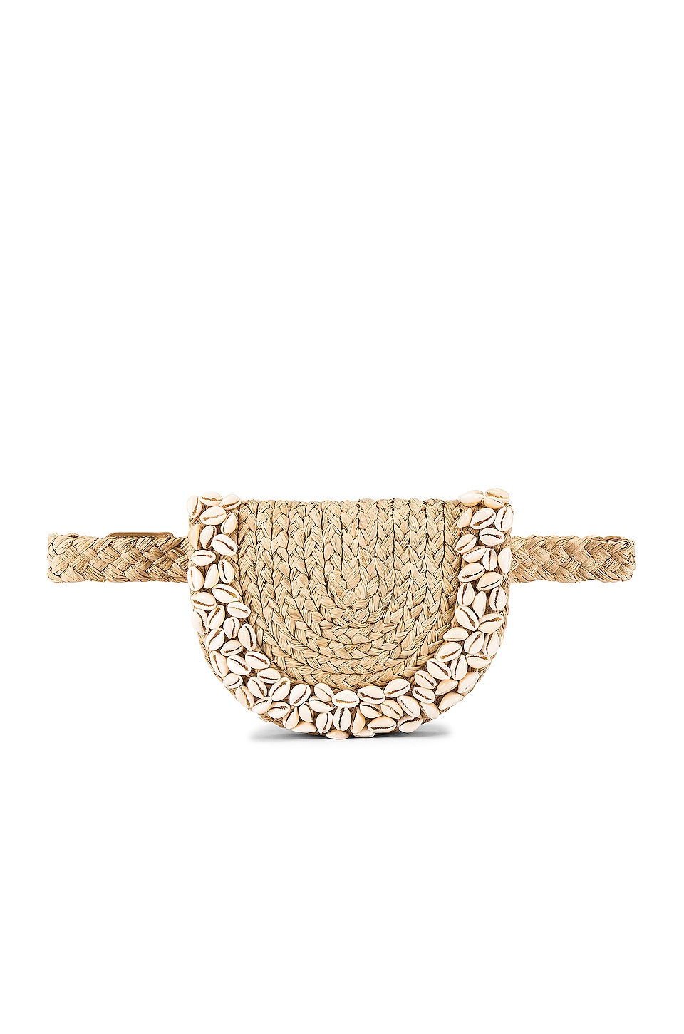 Zimmermann Embroidered Raffia Belt Bag in Natural