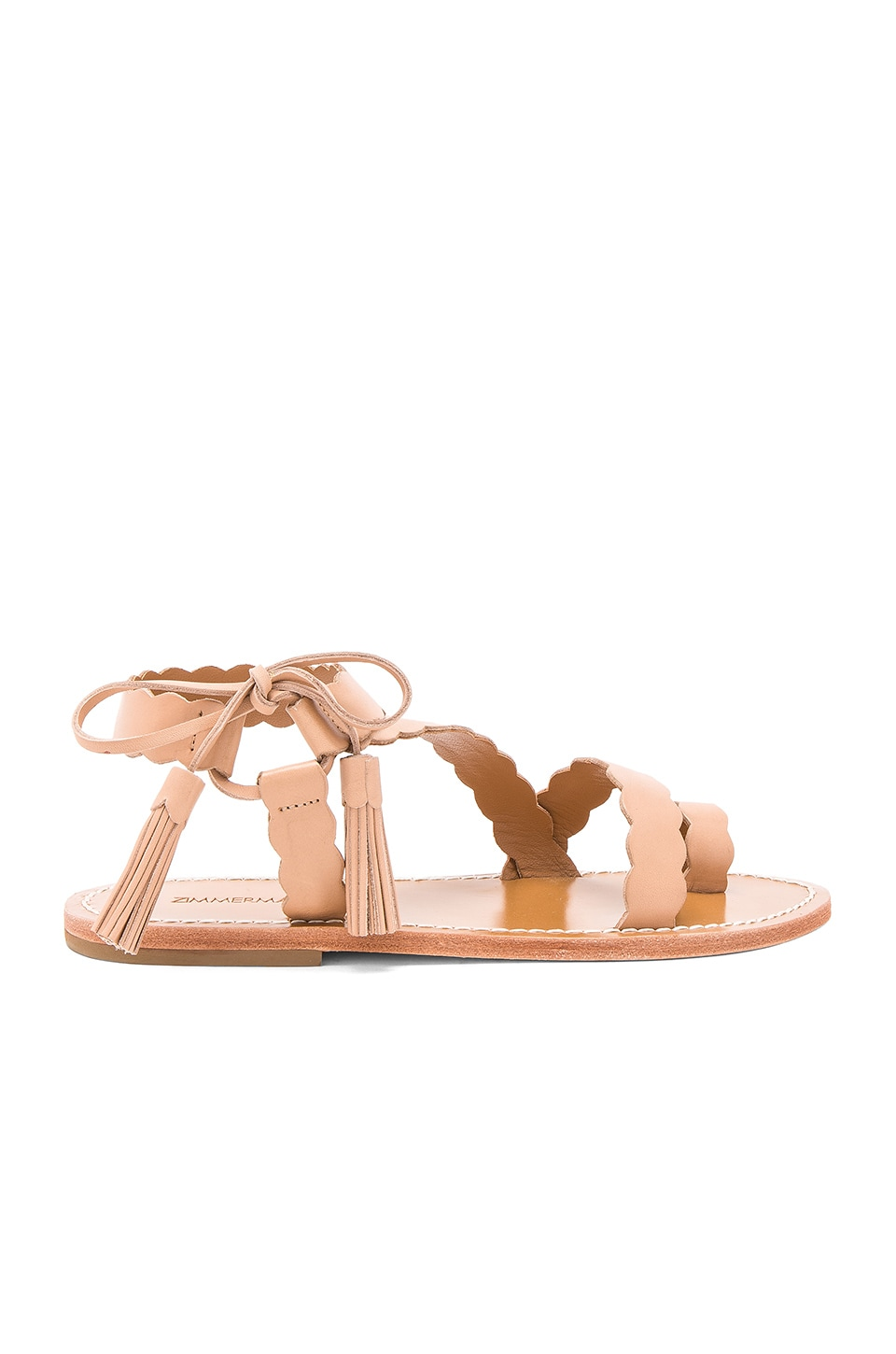 Scallop Tie Sandal by Zimmermann