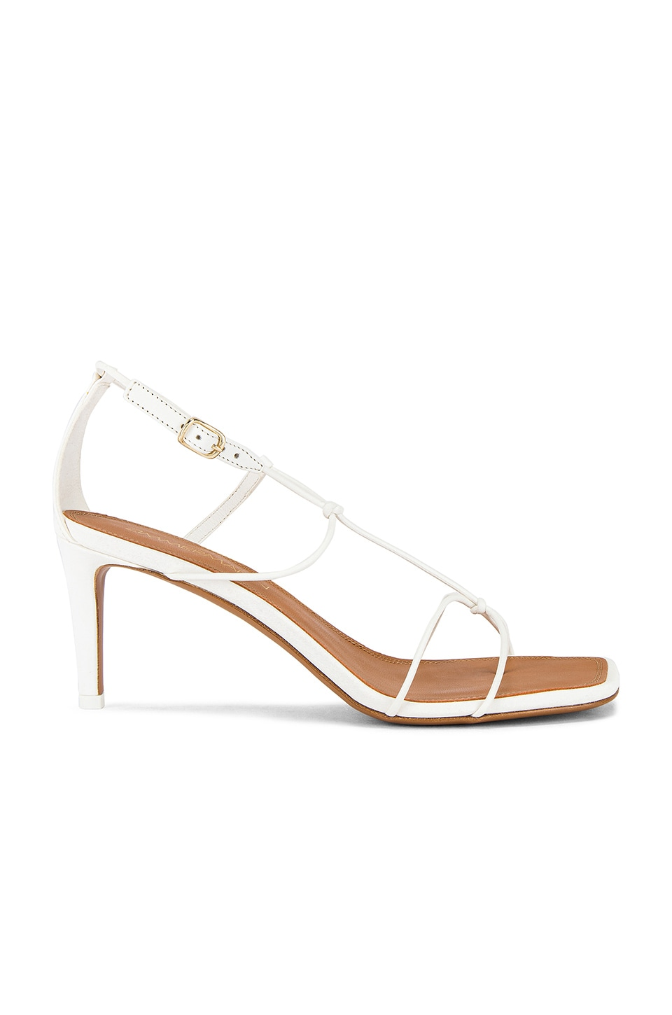 Zimmermann Strappy Heeled Sandal in Off White
