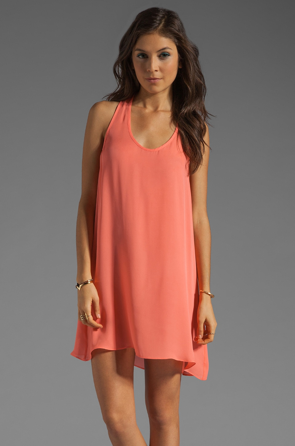 zinke Lulu Dress in Sunrise Coral