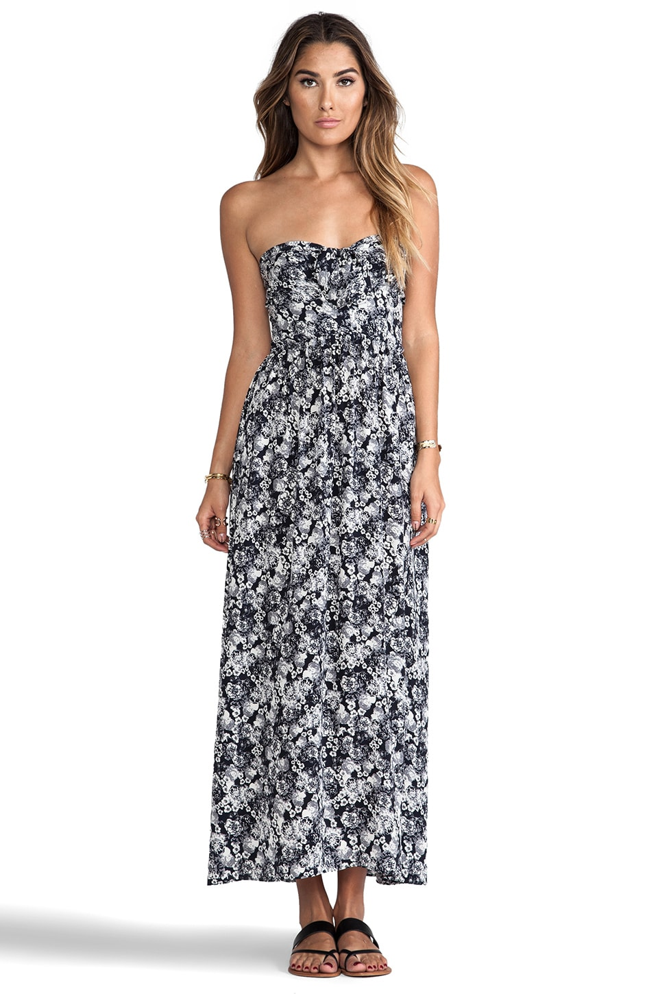 zinke Zoe Dress in Black & White Floral
