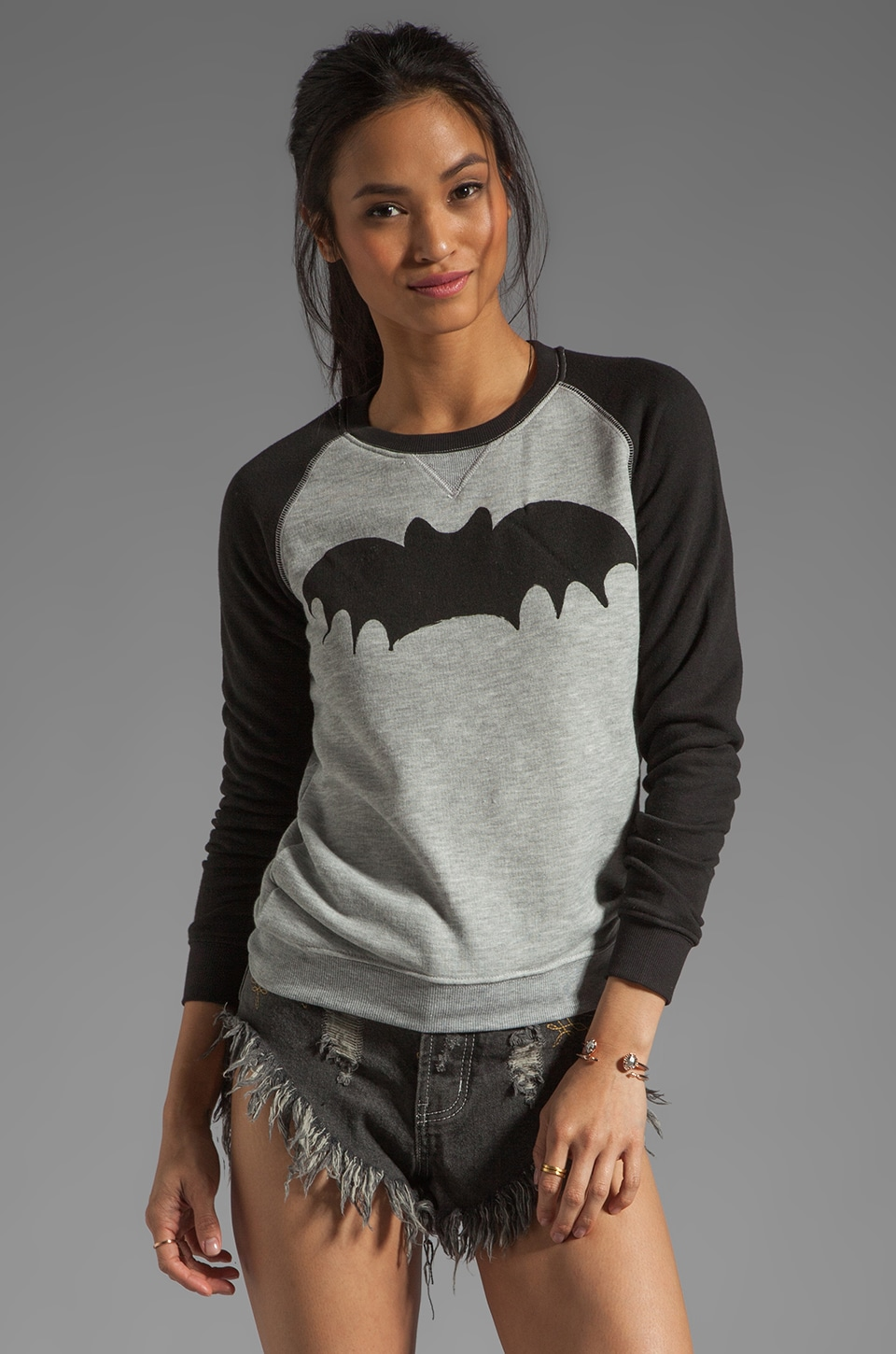 Zoe Karssen Loose Fit Bat Sweater in Grey Heather