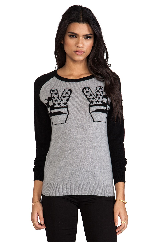 Zoe Karssen Peace Cashmere Sweater in Grey Heather