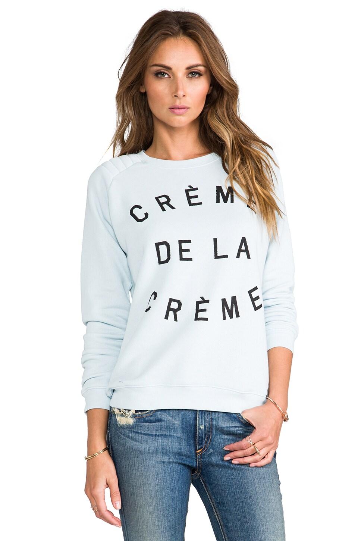 Zoe Karssen Creme De La Creme Sweatshirt in S. Blue