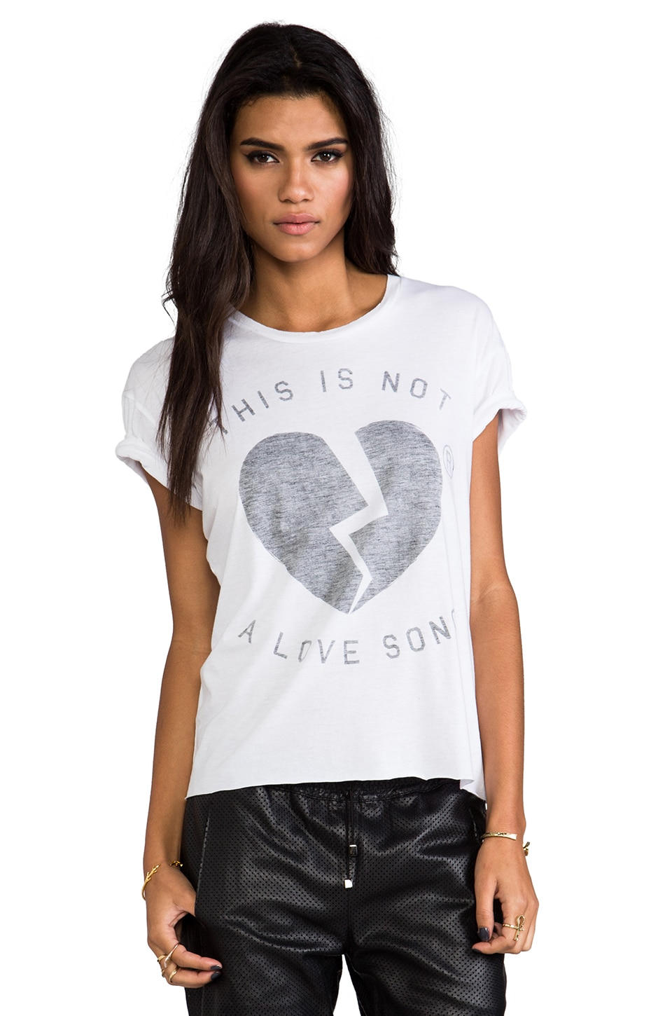 Zoe Karssen Not a Love Song Tee in White