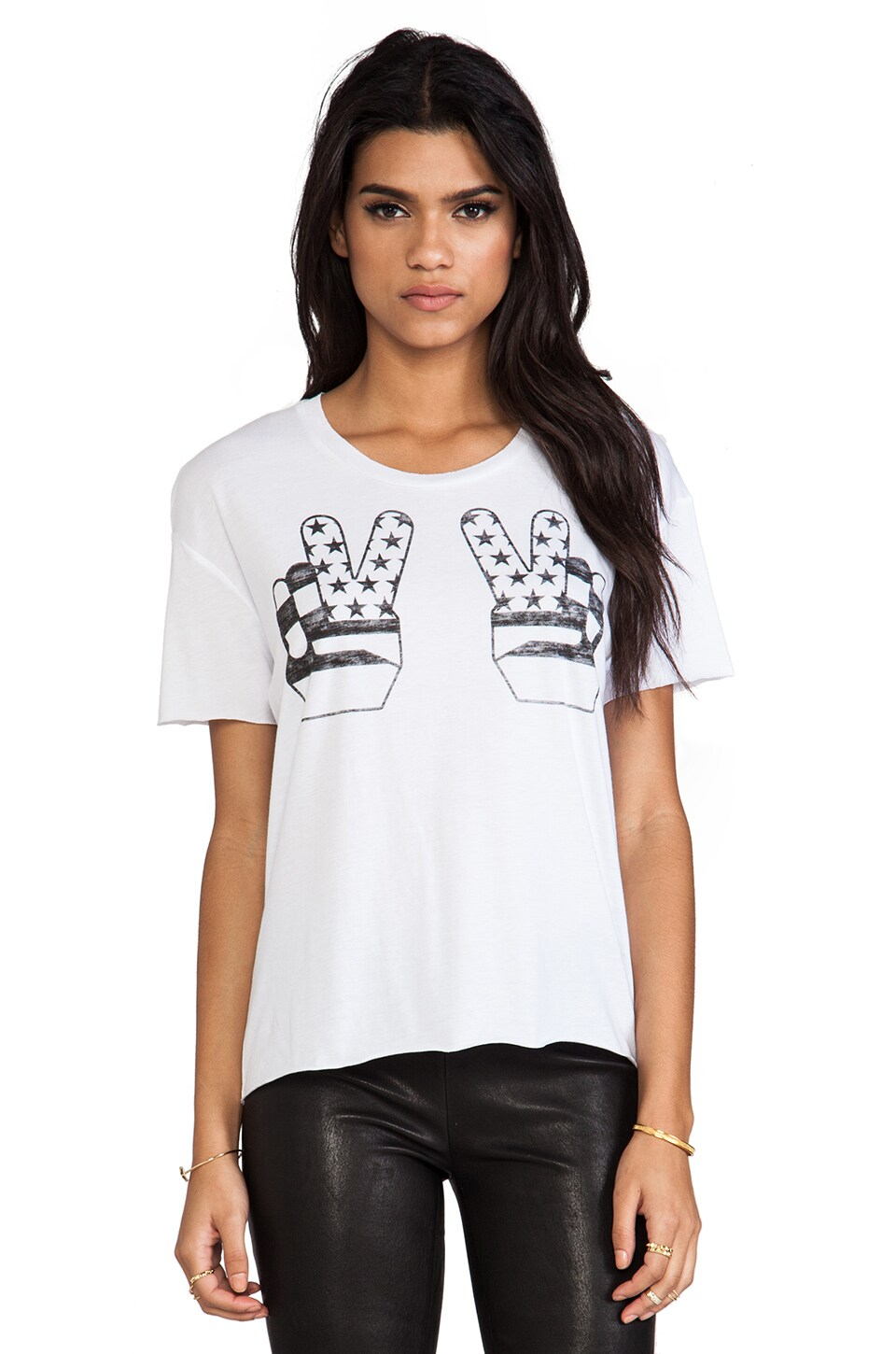 Zoe Karssen Peace Boyfriend Tee in Off White