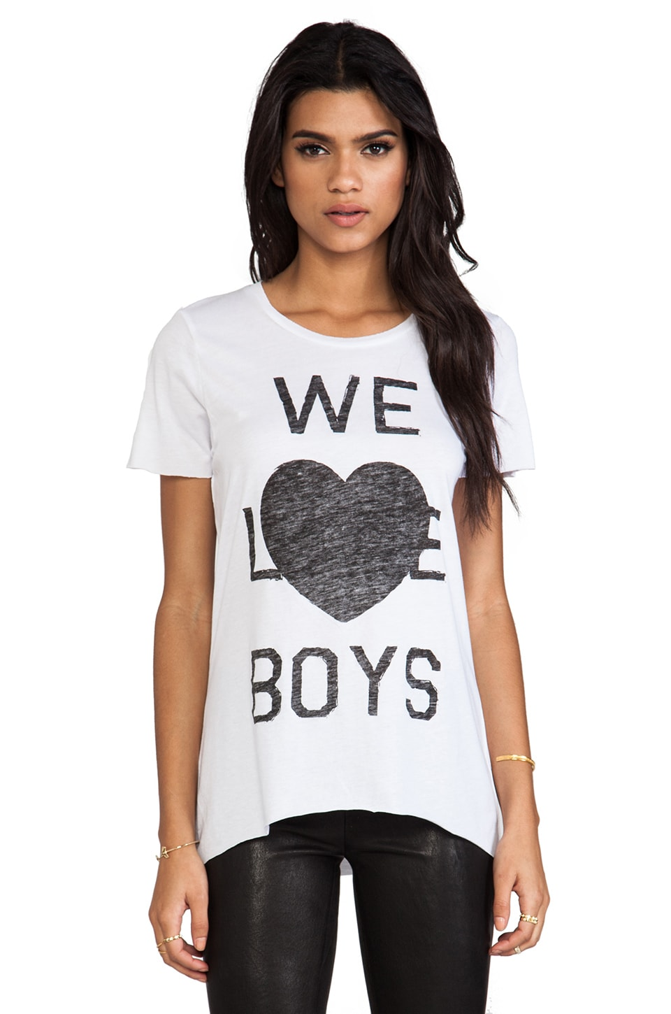 Zoe Karssen We Love Boys Tee in Off White