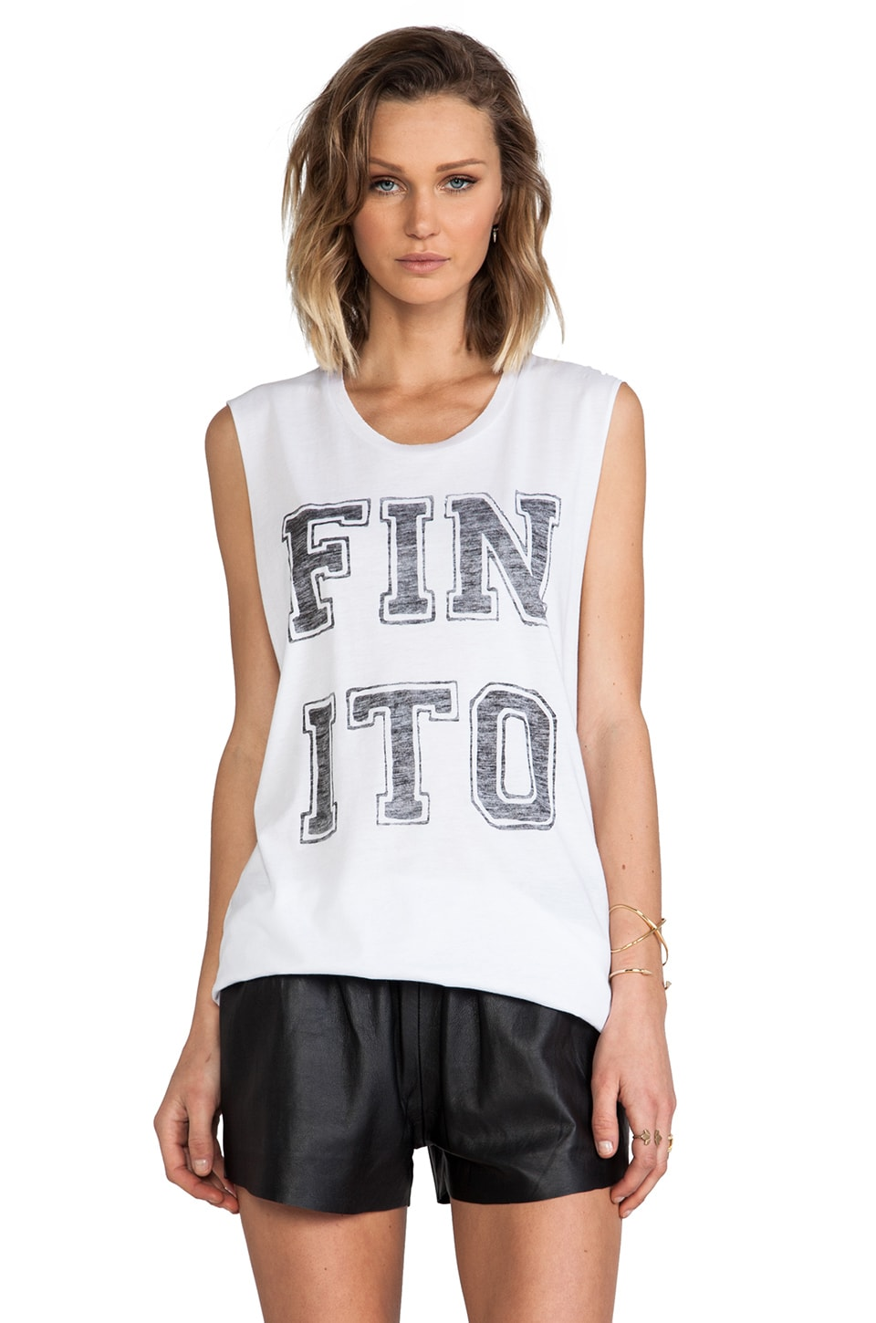 Zoe Karssen Finito Muscle Tank in Off White