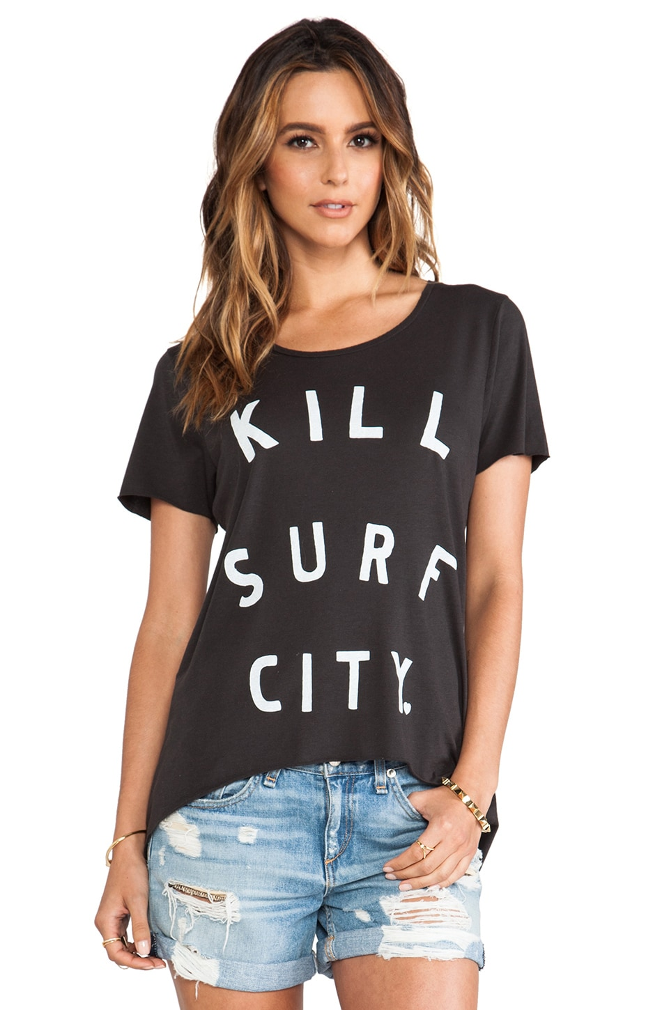 Zoe Karssen Kill Surf City Tee in Black