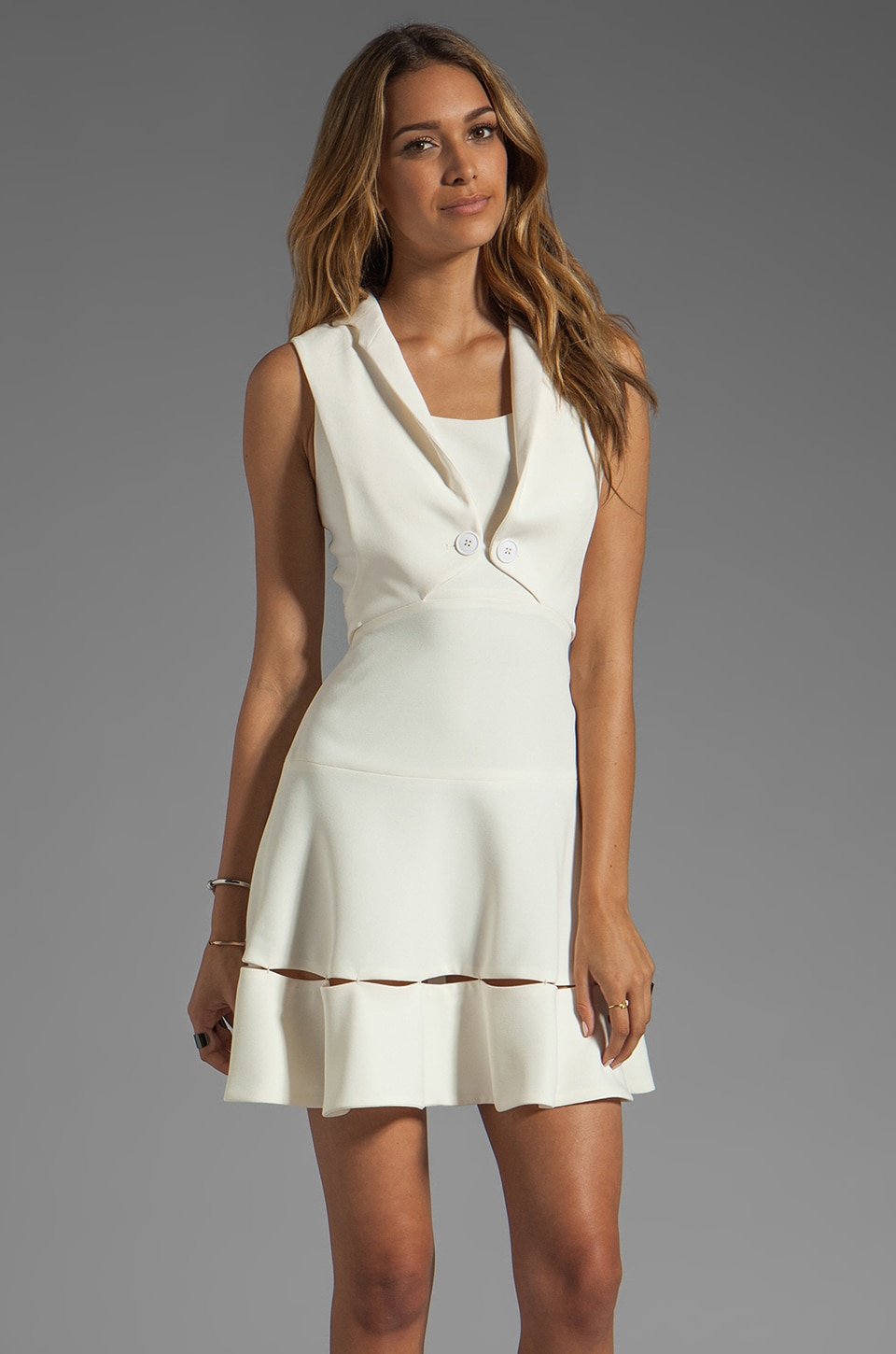 Z Spoke by Zac Posen Sleeveless Dress in Ivory