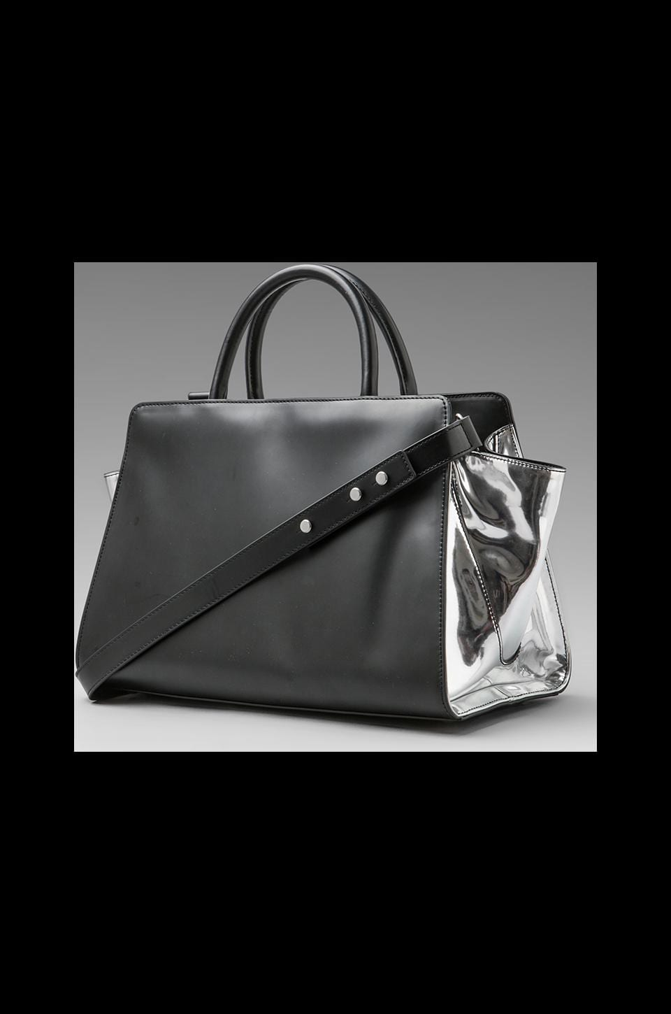 Z Spoke by Zac Posen Eartha East/West Shopper in Black/Sliver