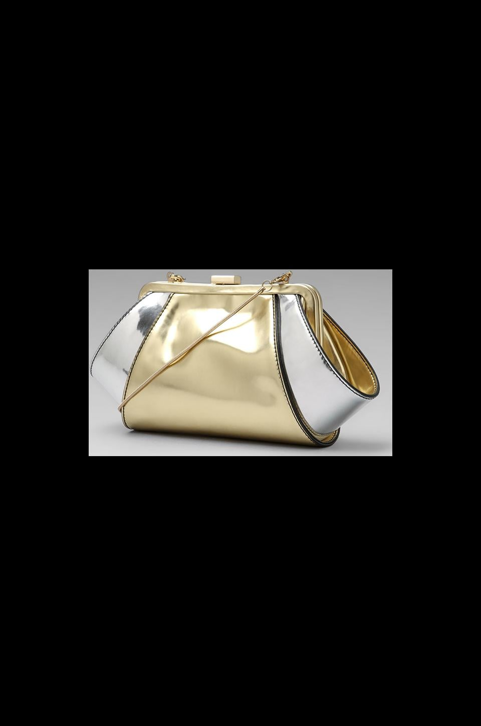 Z Spoke by Zac Posen Posen Clutch in Gold/Silver