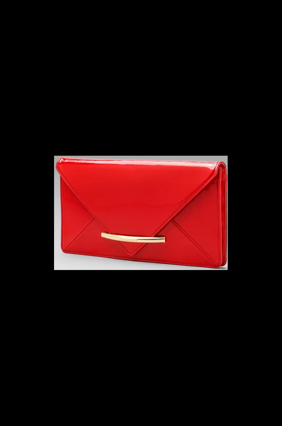 Z Spoke by Zac Posen Marlene Oversized Clutch in Poppy