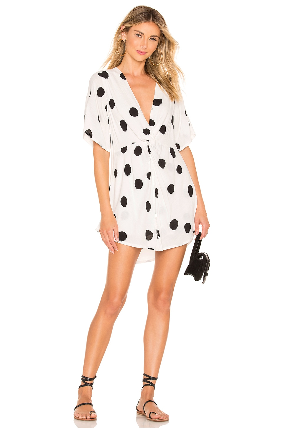 ZULU & ZEPHYR Float Shirt Dress in Black & White
