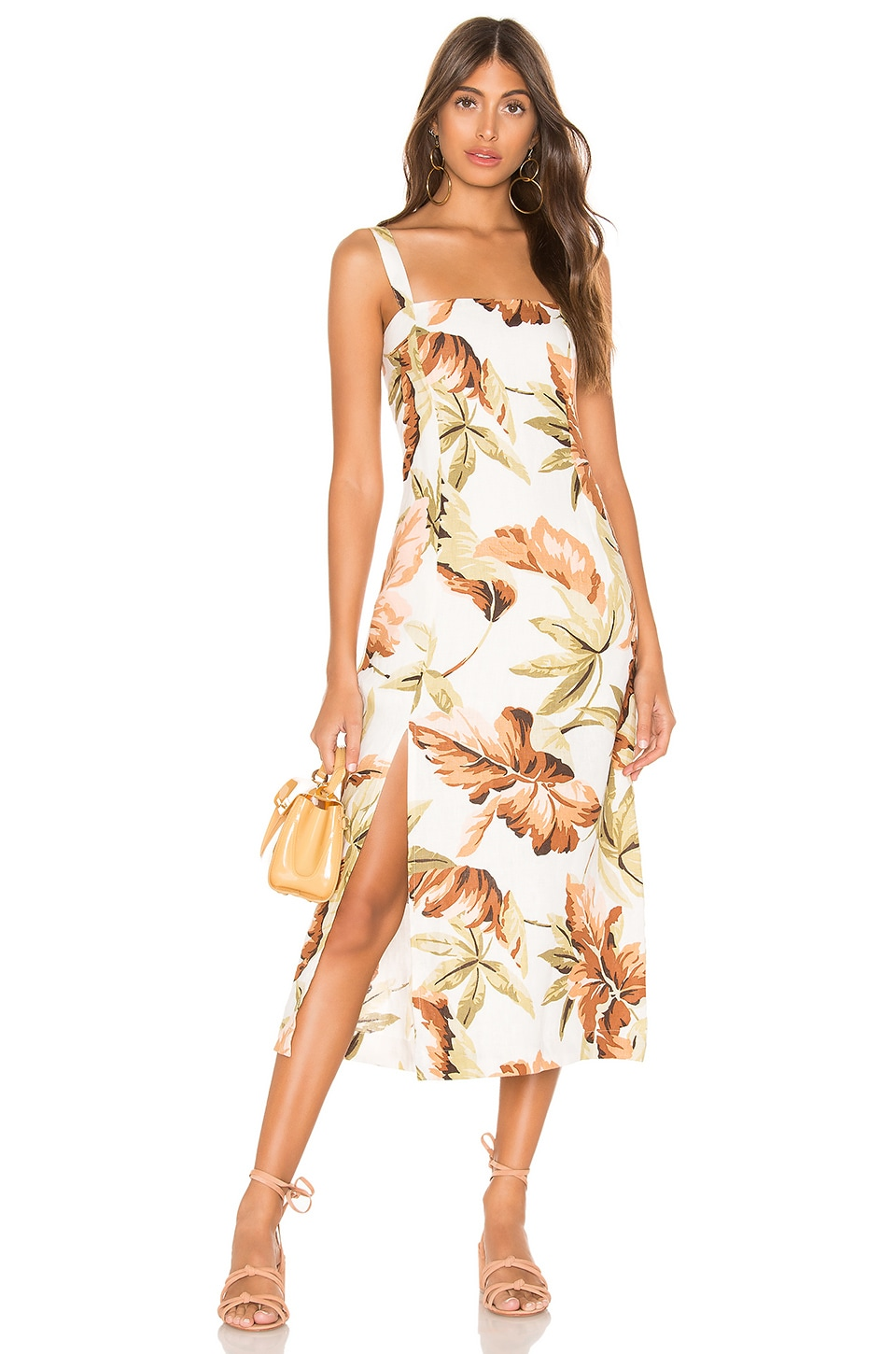 ZULU & ZEPHYR Dusk Leaf Dress in Palm Leaf Print
