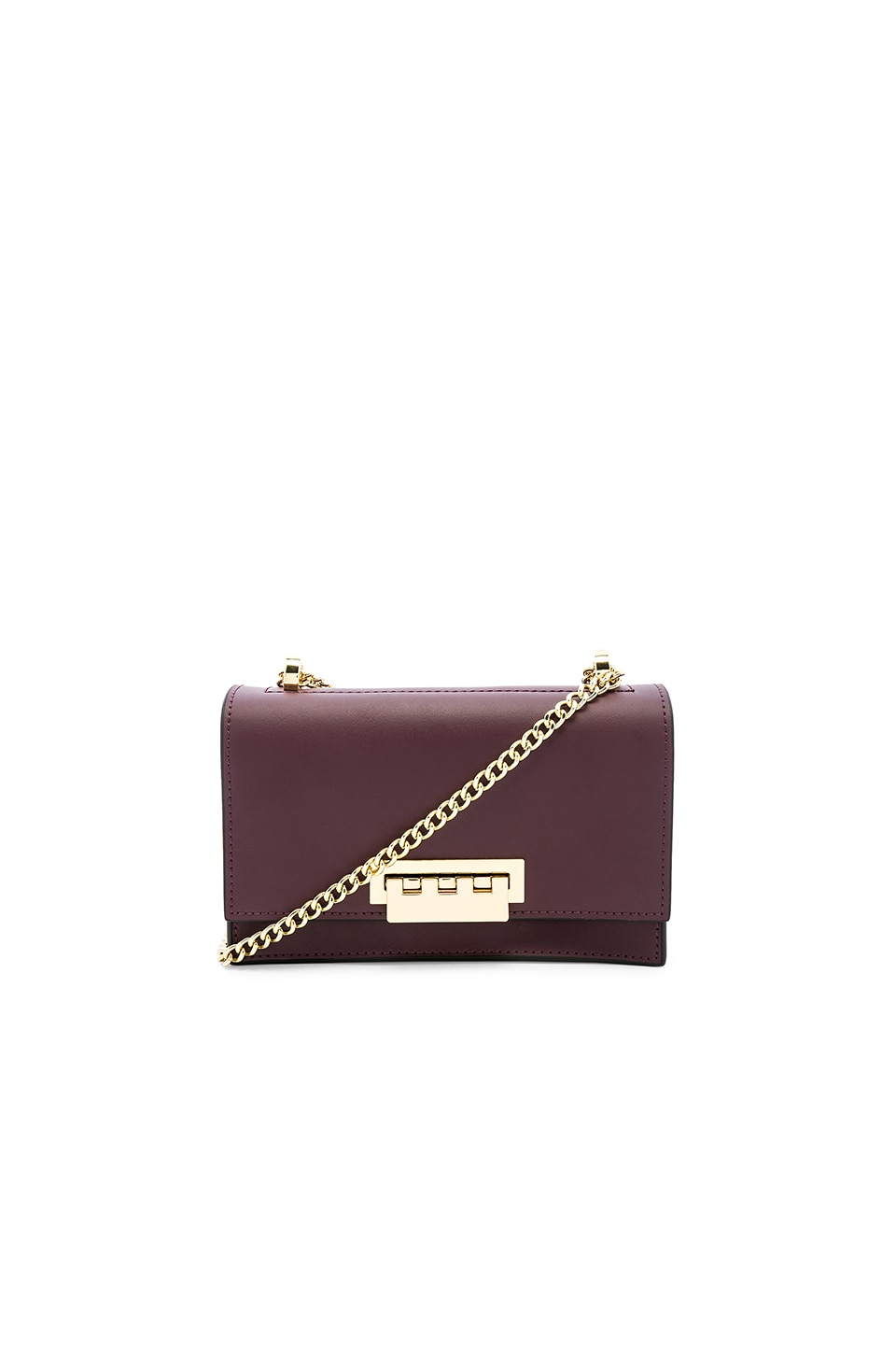 Zac Zac Posen Earthette Small Chain Shoulder Bag in Rum