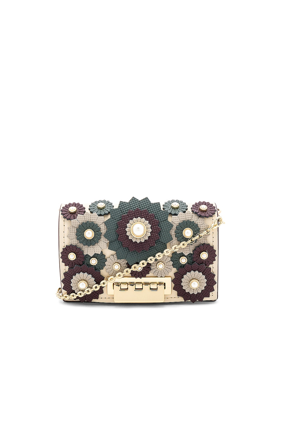 Zac Zac Posen Earthette Card Case With Chain in Ivory