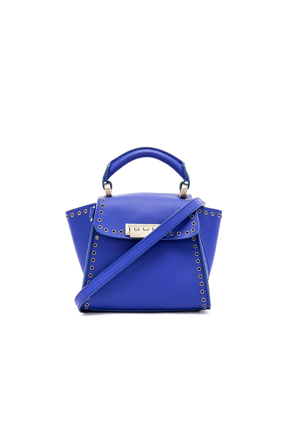 Zac Zac Posen Eartha Iconic Top Handle Mini Bag in Cobalt