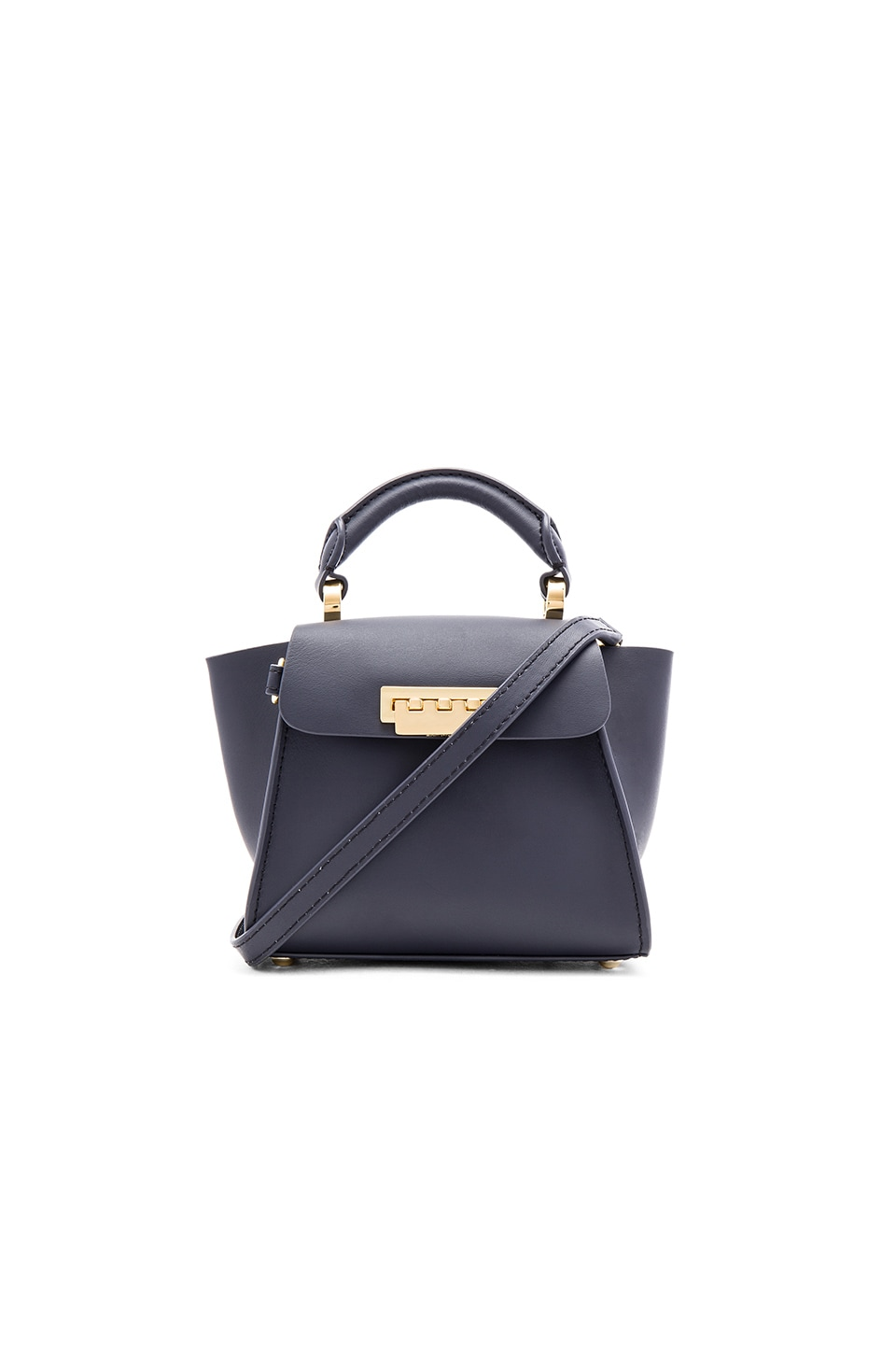 Zac Zac Posen Eartha Iconic Top Handle Mini Bag in Navy