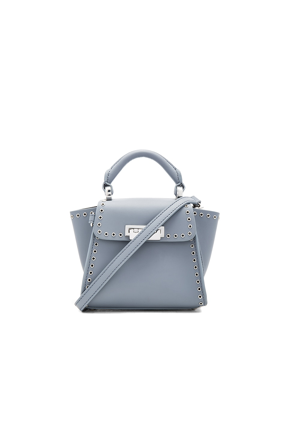 Zac Zac Posen Eartha Iconic Top Handle Mini Bag in Elephant