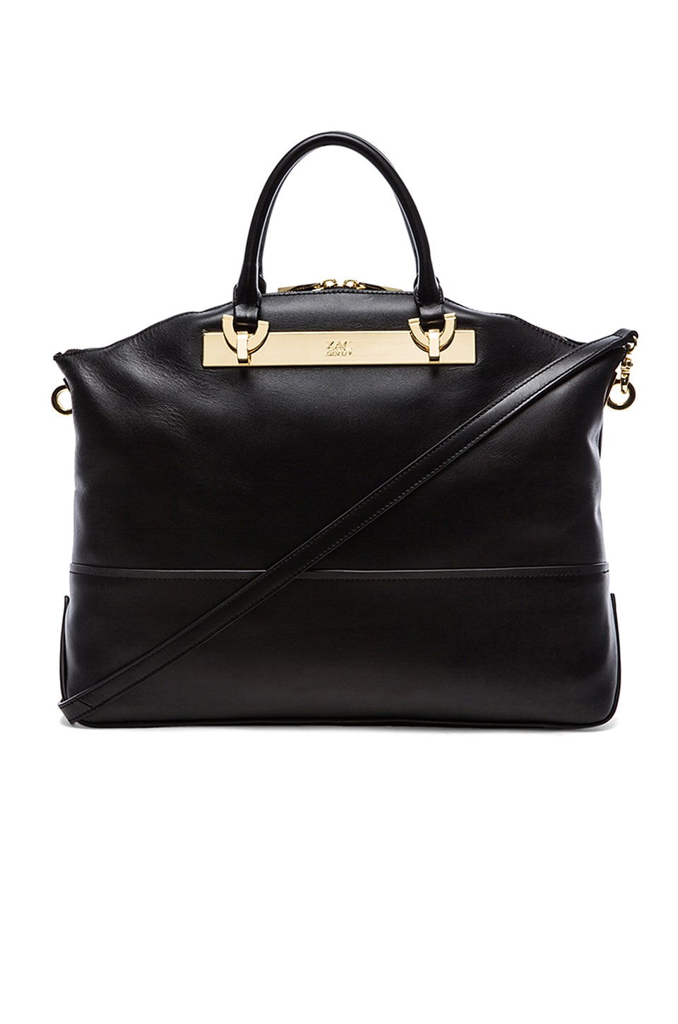 Zac Zac Posen Eartha Envelope Dome Satchel in Black
