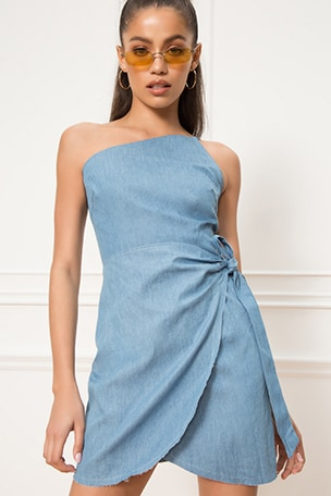 Wendy One Shoulder Tie Dress