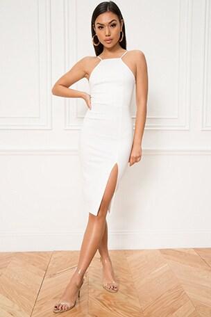 Charity Slit Midi Dress