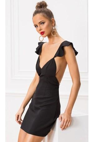 Gianni Flutter Sleeve Dress