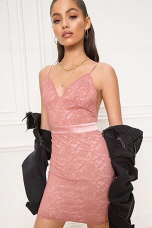 Elona Lace Mini Dress