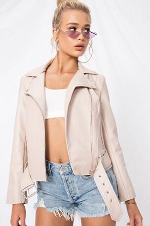Guest List Faux Leather Jacket