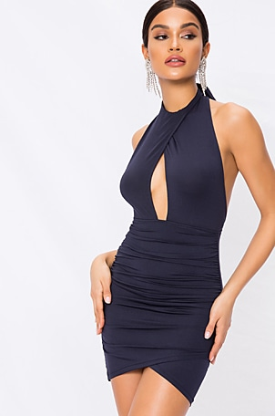 Lauren Ruched Cut Out Dress