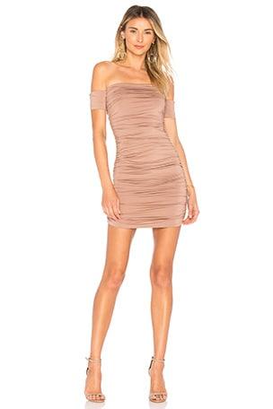 Elora Ruched Off The Shoulder Dress