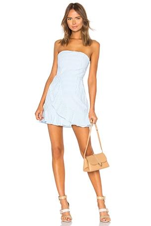 Rosalie Stripe Ruffle Dress