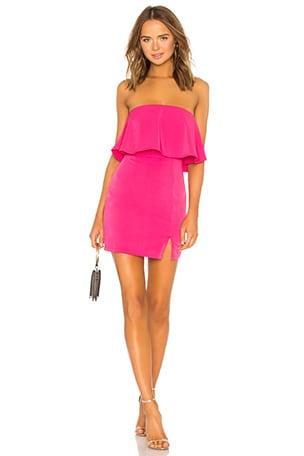 Catalina Ruffle Tube Mini Dress