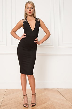Valentina Deep V Dress