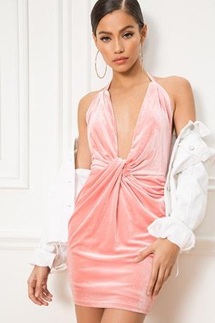 Cecily Knot Halter Dress